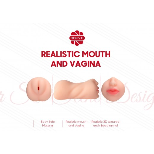 Realistic Mouth And Vagina